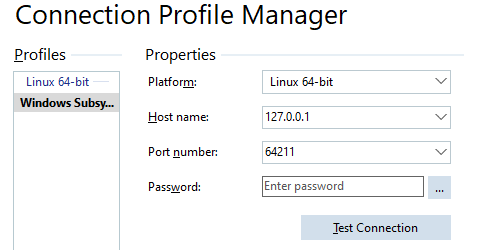 Connection Profile Manager