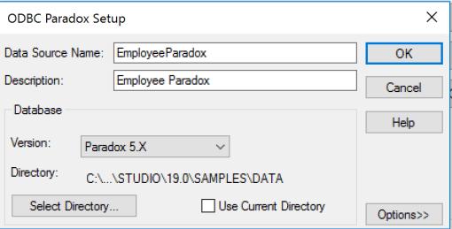 ODBC_Paradox_Setup