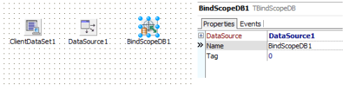 BindScopeDB1 connected to DataSource1
