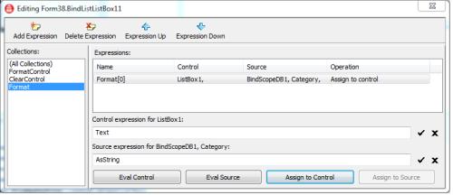 BindList1 Format binding expression