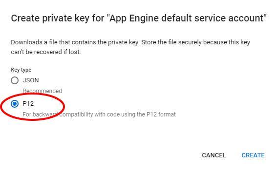 Google Speech To Text API - Create private key