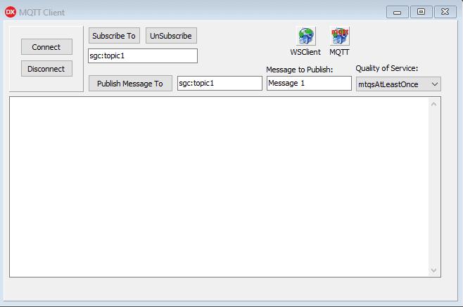 MQTT example screen shot