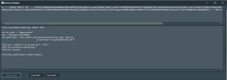 PyCryptodome Demo with Python4Delphi in Windows.