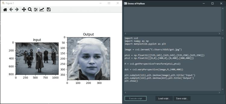 OpenCV Demo with Python4Delphi in Windows.