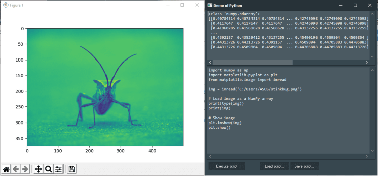 Matplotlib Demo with Python4Delphi in Windows.