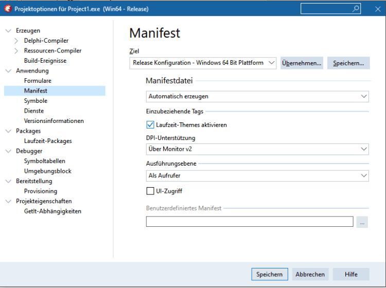 Manifest-Datei für Anwendungsbereitstellung