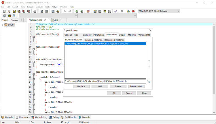 How To Use A C++ DLL In Any Delphi Program - import-static-library