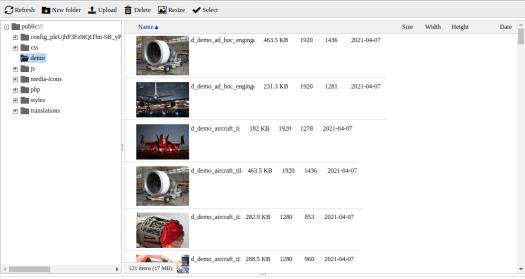 IMCE module - Drupal file viewer