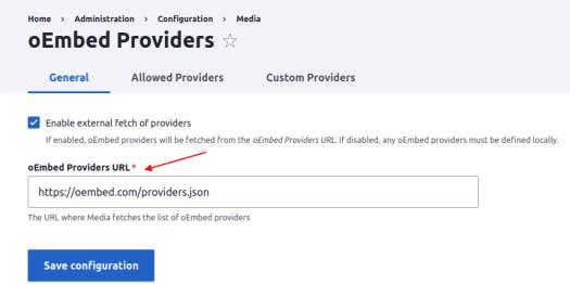 oEmbed Provider URL
