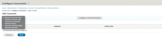 Configure Constraints