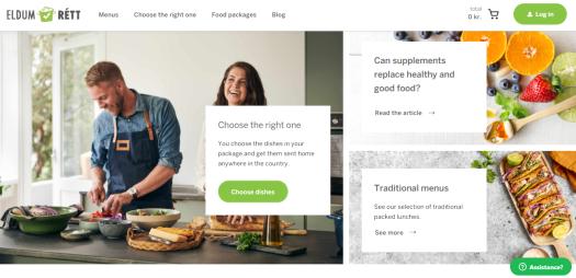The homepage of Eldum Rett is shown.