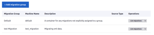 Add Migration Group