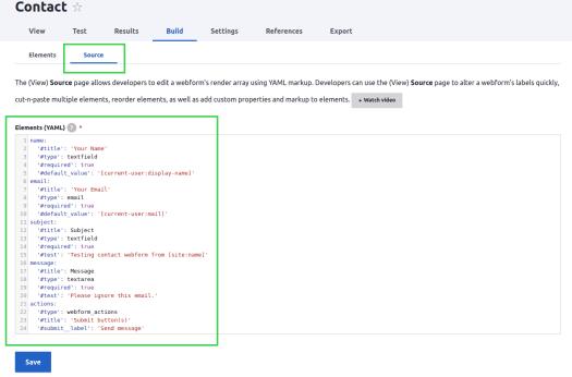 YAML Source Code