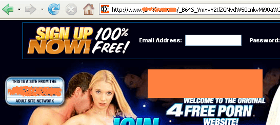 Sitio pornográfico