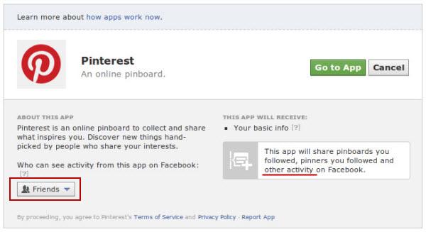 Ir a Pinterest.com o configurar visibilidad