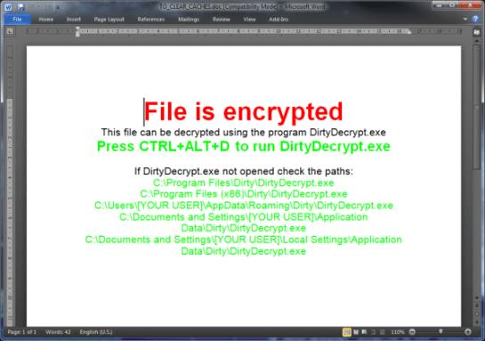 Ejemplo de extorsión de Filecoder.BH