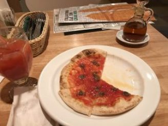 anchovy pizza orange juice