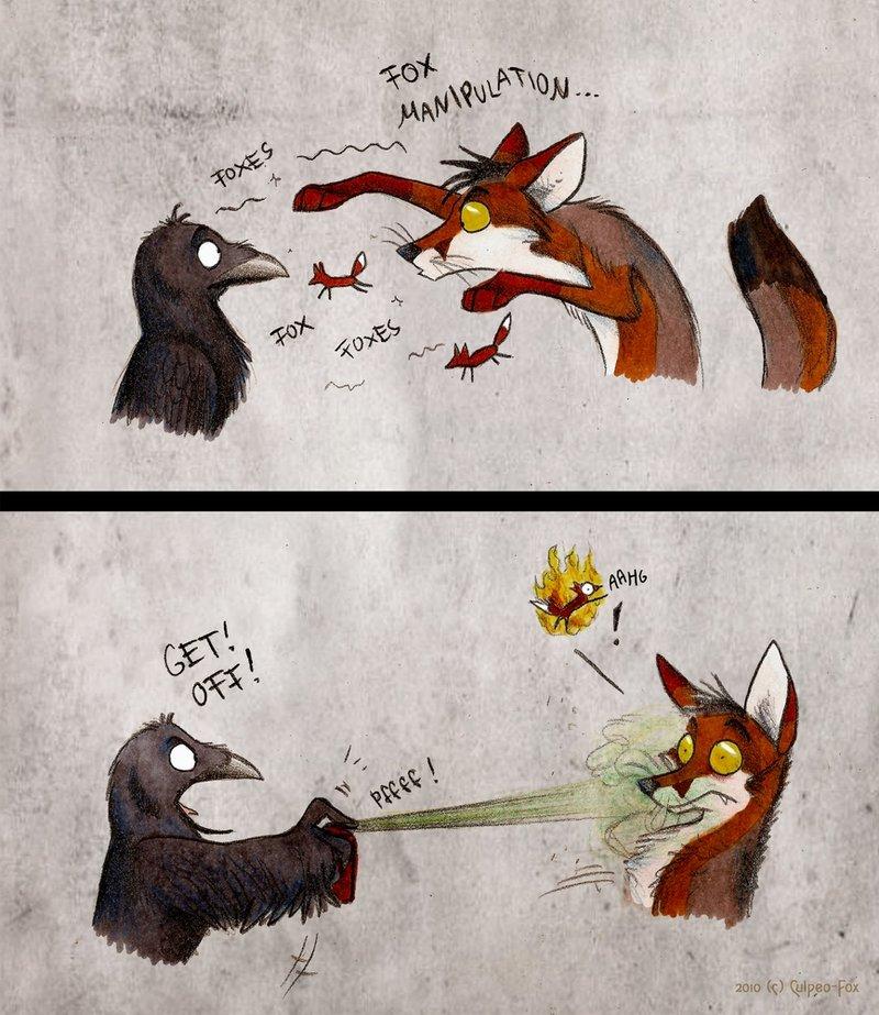 Cute Cartoon Foxes Wallpaper American Crow The Ebestiary