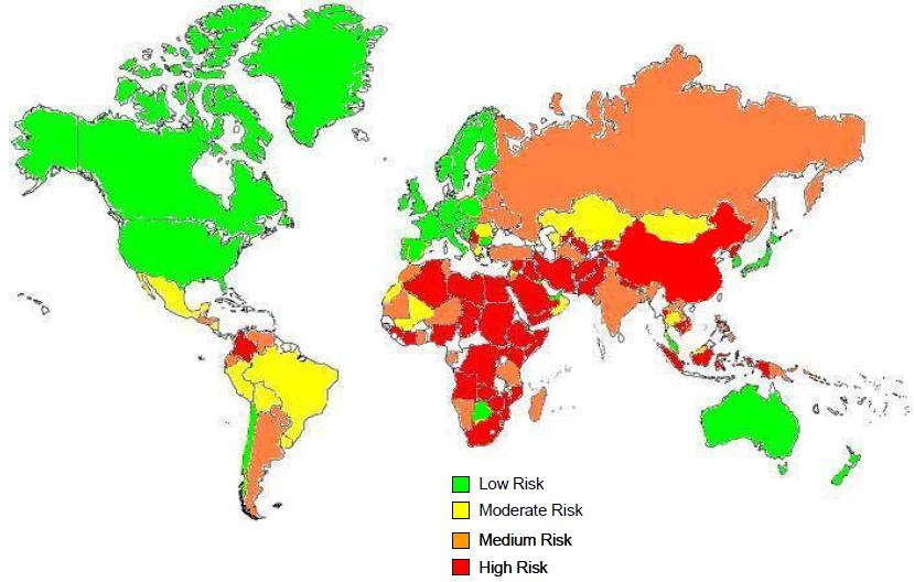 2012 political risk map Access analysis of the economy outlook, political situations, business environments and sectors within 200 countries worldwide from the economist intelligence unit.