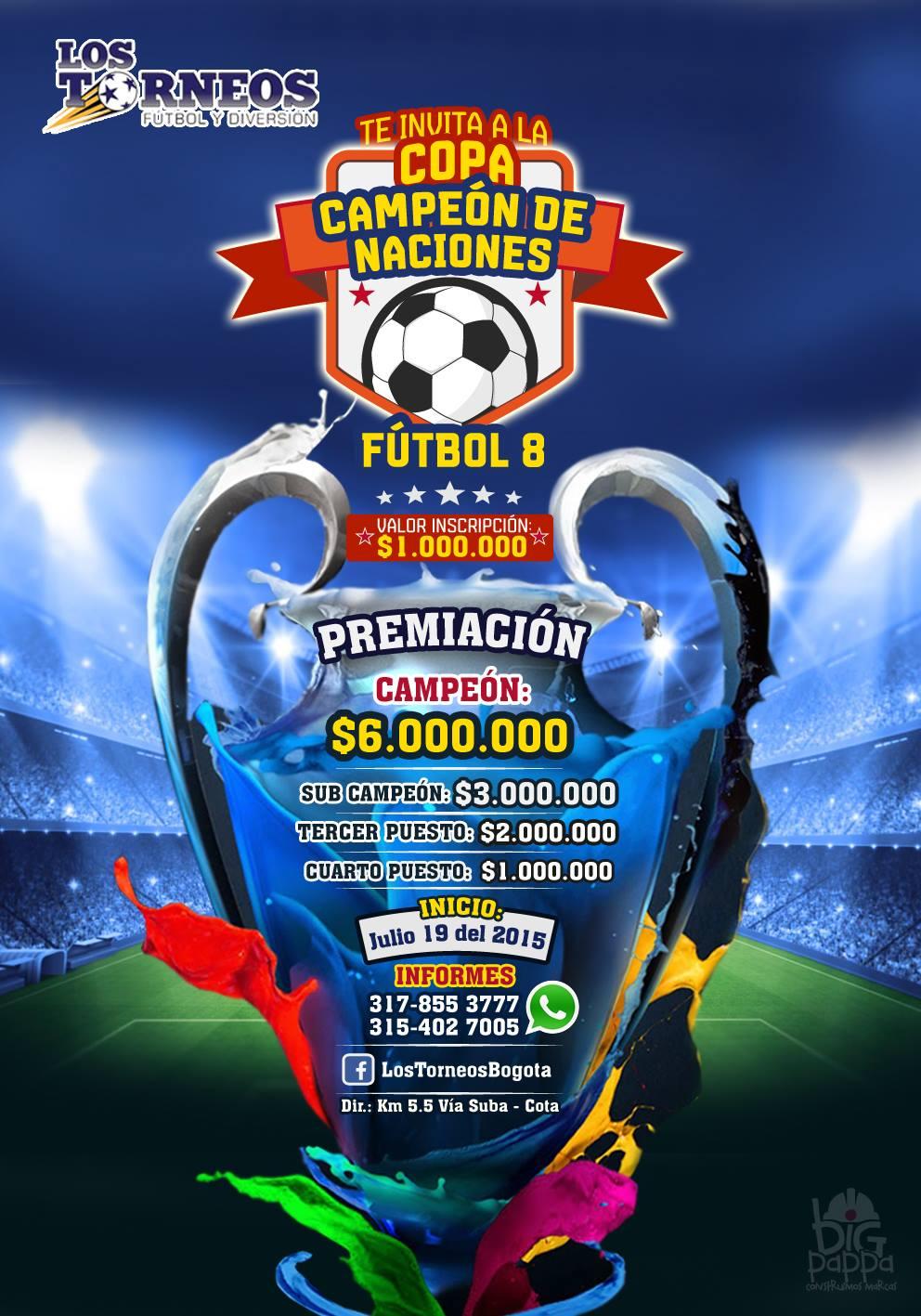 Copa Campen de Naciones F8 Premios por 12 millones de