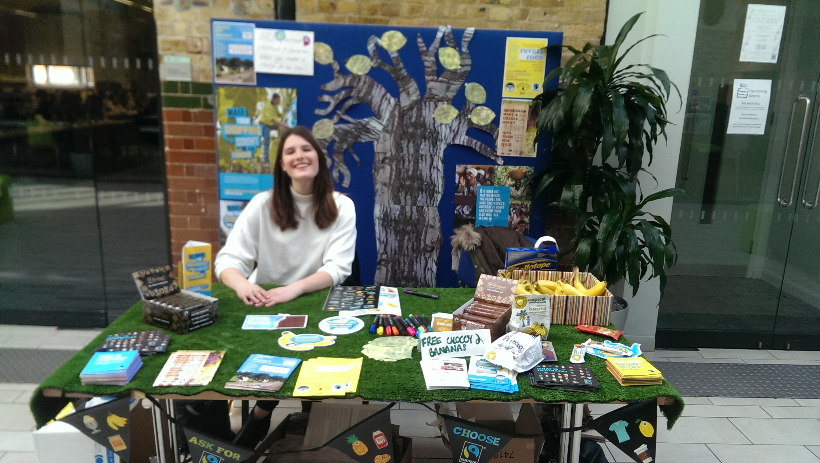 Jade hosting a Fairtrade stand in 2016