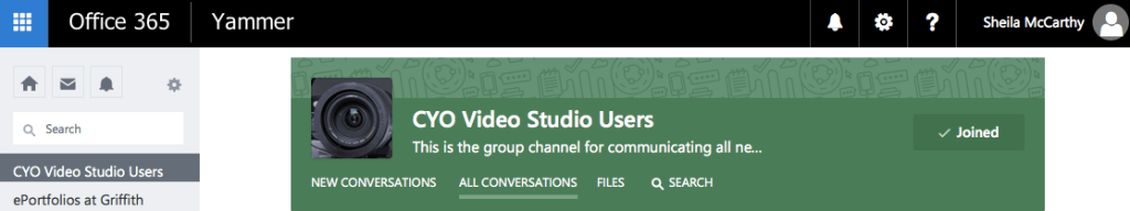 CYO Users Group on Yammer