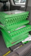 Green flooring panels
