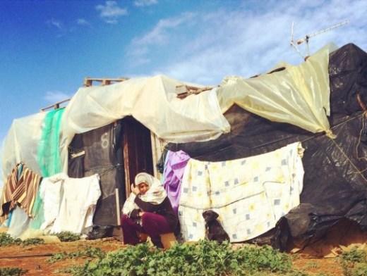 Una migrante magrebí en un asentamiento de Almeria. /S.R