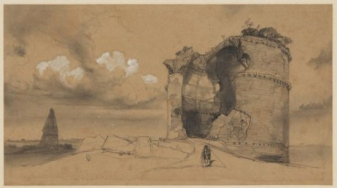 Campagna di Roma: Ruins, 1840? Houghton Library, MS Typ 55.26 (166