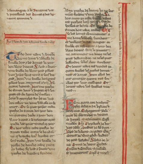 A manuscript page shows writing in Latin.