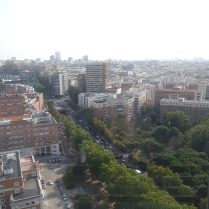 An aerial view of Madrid from the tower of Moncloa.