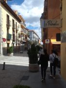 Walking down a street in San Lorenzo.