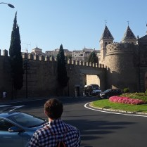 The entrance gate and wall of Toledo
