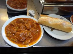 Carcamusa (meat stew with tomatoes and vegetables) and bread