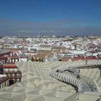 A view of Sevilla from the enormous Las Setas structure.