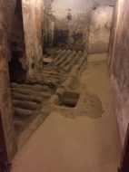 Date storage in the cellar of the castle