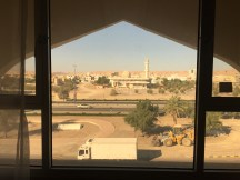 View out my window; Sultan Qaboos Mosque and main road