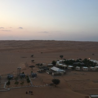 Campsite view from on the dune