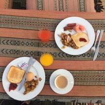 British breakfast the next morning