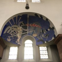 St. Michael's in Freiburg is entirely decorated in surrealist art.
