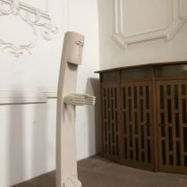 This statue is in the University Church and might be depicting Jesus.