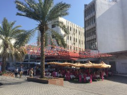 Restaurants along the corniche