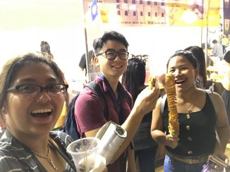 What is a study abroad at Singapore without strolling a food street market with friends?