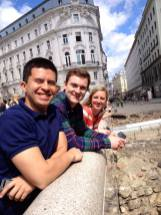 Just us and Joey at some Roman ruins in Vienna!
