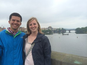 Here is our favorite picture we have. We're on the St. Charles Bridge is Prague, Czech Republic!