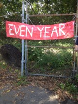 The first banner into the entrance of The Pull