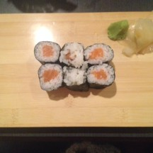 Salmon Sushi (Before)