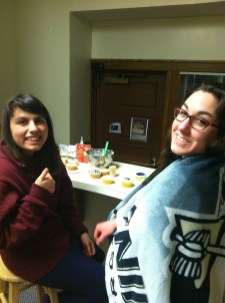 My partners in cupcake decorating crime