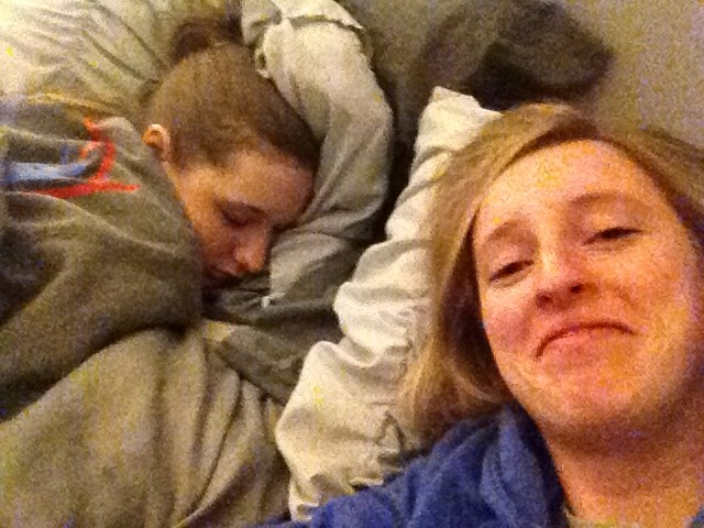 Shannon fell asleep while I was talking to her