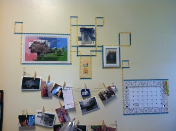 I pinned up pictures and I added to them throughout the year.